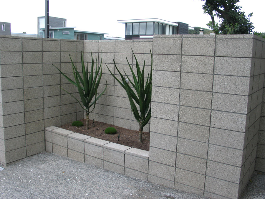 Honed ground or polished concrete and overlays designer for Concrete block walls design